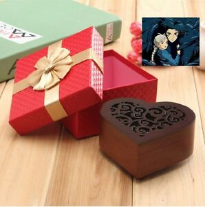 Wooden Heart Shape Carving Music Box  ♫ STAR WAR MAIN THEME SOUNDTRACK  ♫