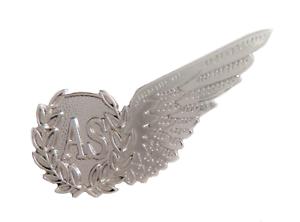 Air Steward Royal Air Force RAF MOD Single Wing Nickel Pin Badge Brevet