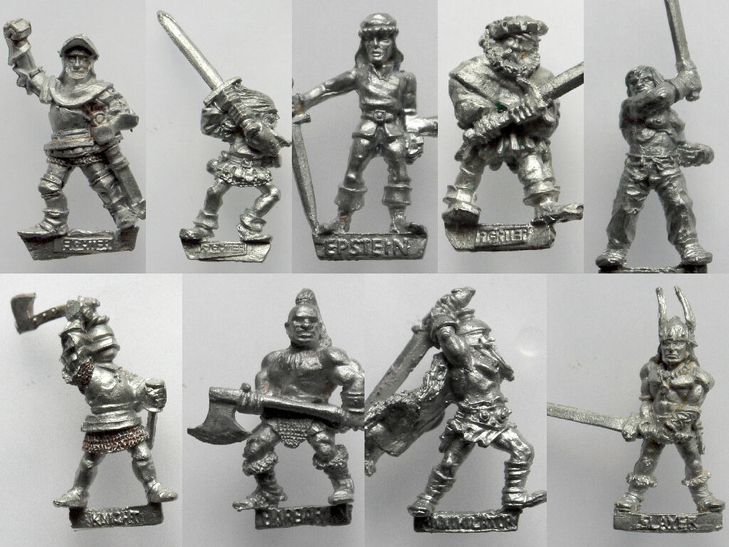 Citadel Warhammer AD&D - F2 Fighters   Skeleton Skeleton Skeleton   Ninjas   Wizards - Rare 1980's 550532