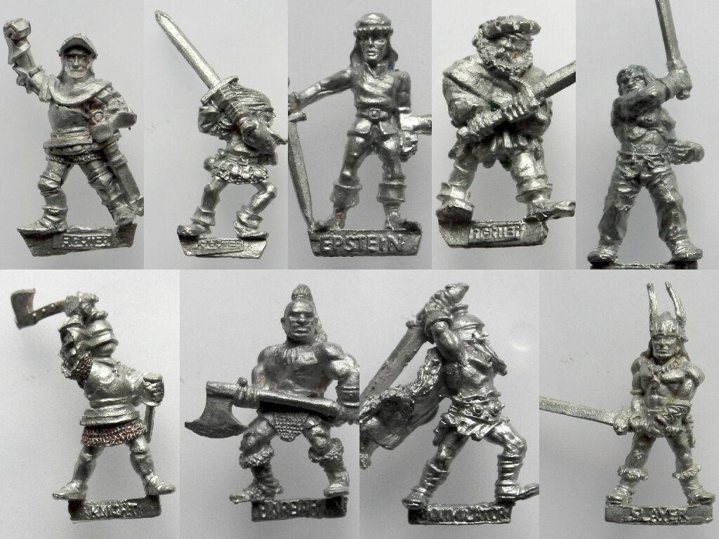 Citadel Warhammer AD&D - F2 Fighters   Skeleton   Ninjas   Wizards - Rare 1980's