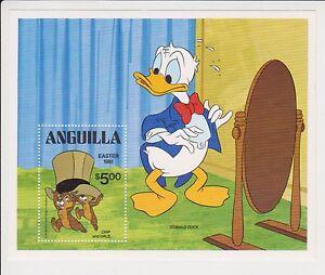 Hoja-De-Estampillas-En-Miniatura-Eater-1981-Anguila-Donald-Duck-Chip-amp-Dale-Disney-estampillada