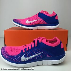 640ea4ea5348c NIKE FREE FLYKNIT 4.0 TRAINERS WOMENS NEW RUNNING FREE RUN SHOE UK ...
