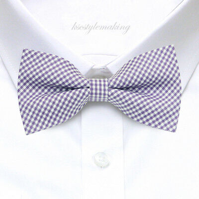*BRAND NEW* BLUE//BLACK//WHITE CHECKED RARE BOYS TUXEDO BOW TIE B755