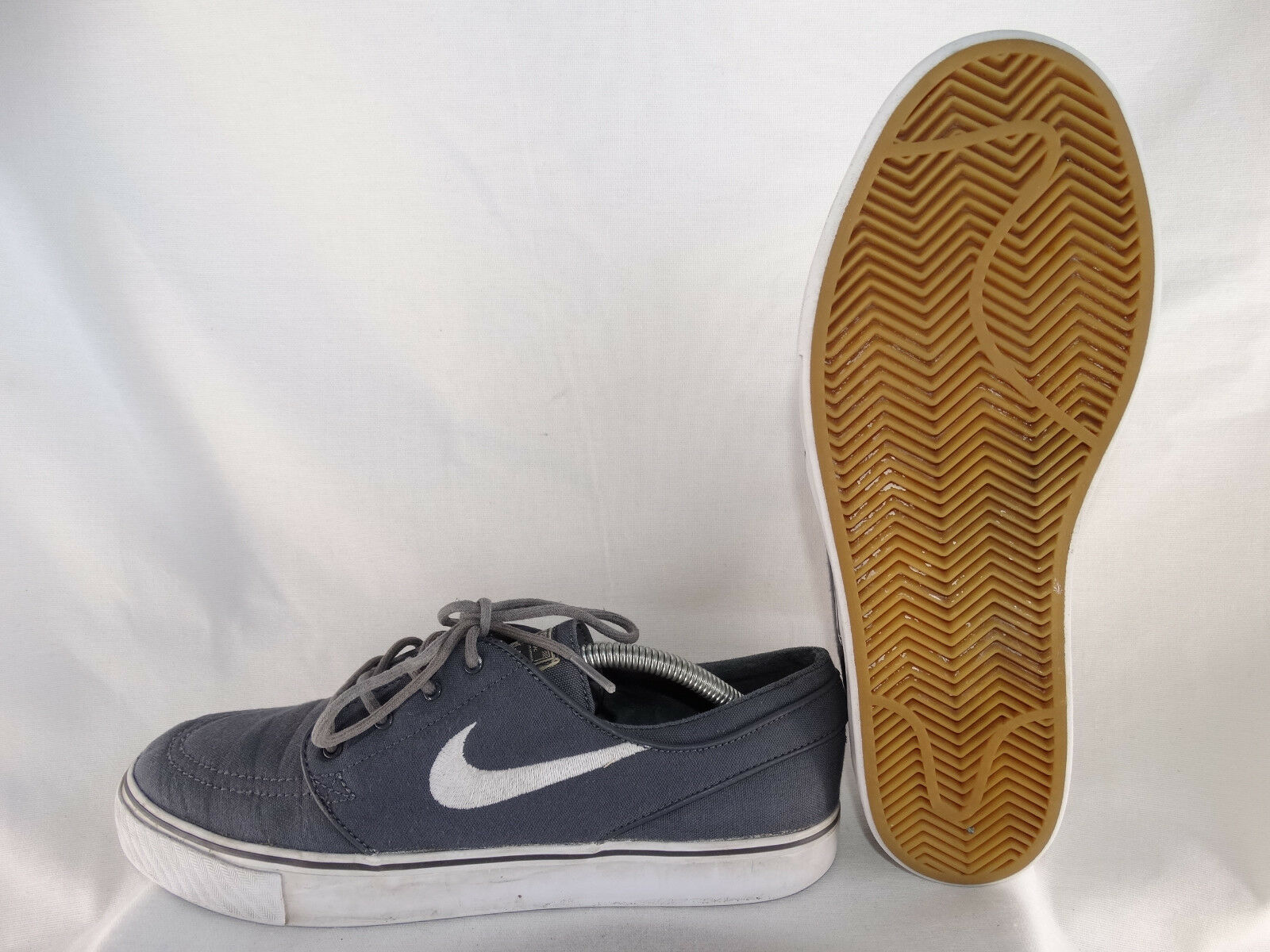 Nike SB Zoom Stefan Janoski Canvas Turnschuhe 615957-027 grau-weiß EU 42,5 US 9