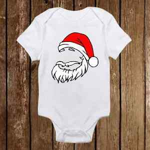 Santa Hat with Beard Onesies - Baby First Christmas Outfit Holiday ... e2552912490