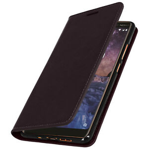 Custodia-in-pelle-business-LIBRO-Stand-Custodia-Per-Nokia-7-Marrone-Plus