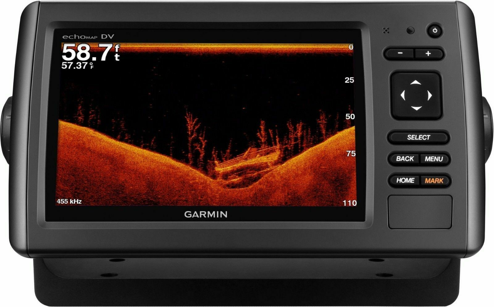 MARINE Garmin EchoMap 73DV Preloaded LakeVu HD HD-ID   DownVu Sonar map
