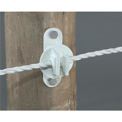 6-Dare Nail On Wood Post Pin Lock Electric Wire Fence Insulator 25//Pk 2249-25