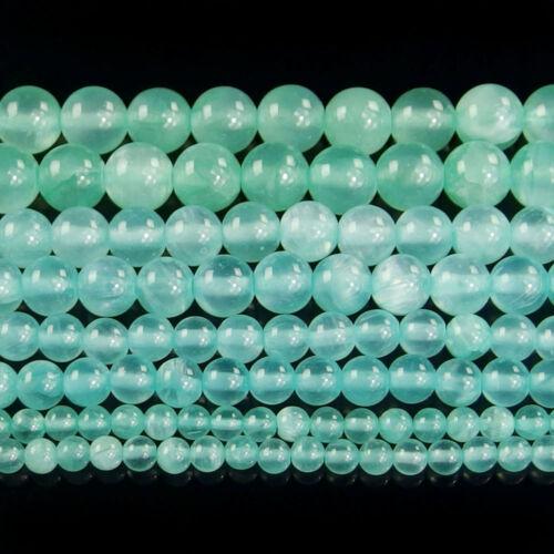 """Gris Jade Piedra Preciosa espaciador granos 4mm 6mm 8mm 10mm Piedra Redonda joyería hágalo usted mismo de 16 /"""""""