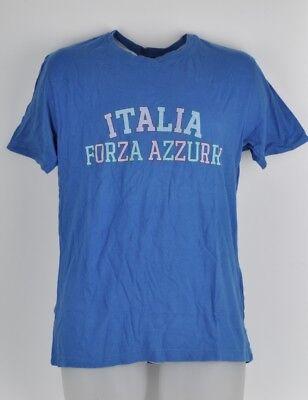 Baseball & Softball Sport Red Jacket Medium Blau Italia Forza Azzurri T-shirt Kurzärmelig Herren Baumwolle Duftendes Aroma