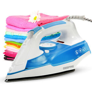 Geepas-Handheld-Steam-Iron-Non-drip-Non-stick-Sole-Plate-2400W-Self-Cleaning