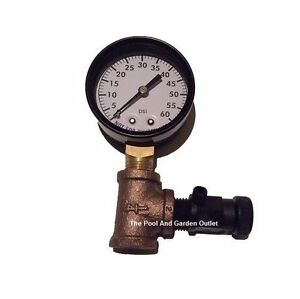 Swimming Pool Spa Filter 0 60 Pressure Gauge Amp Air Release