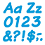 thumbnail 2 - Blue 4-Inch Italic Upper/Lowercase Letters - Classroom Displays, Notice Boards