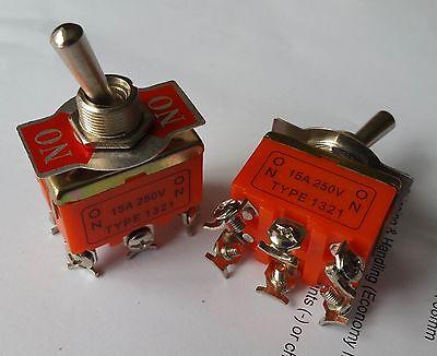 5 DPST on//on Industrial interruptores 1321 Doble Polo único tiro