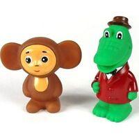 Cheburashka And Crocodile Gena (rubber Bath Toy Set )