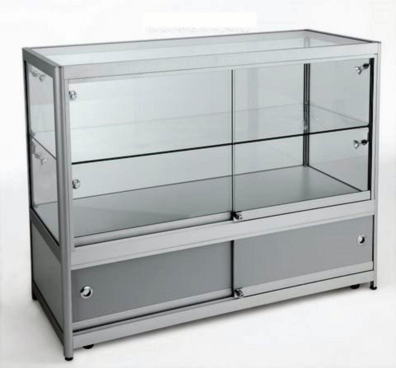 Clase Alta Aluminio & Cristal Armario Vitrina Tienda hasta Venta Contador