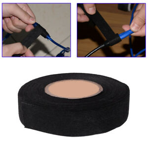 15M 19mm Car Wiring Tape Cloth Fabric Adhesive Tape Loom Harness Heat Resistant