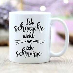 Taza-Ich-Schnarche-No-Ich-Schnurre-Gato-T185-Cat-Taza-de-Cafe-Spastasse