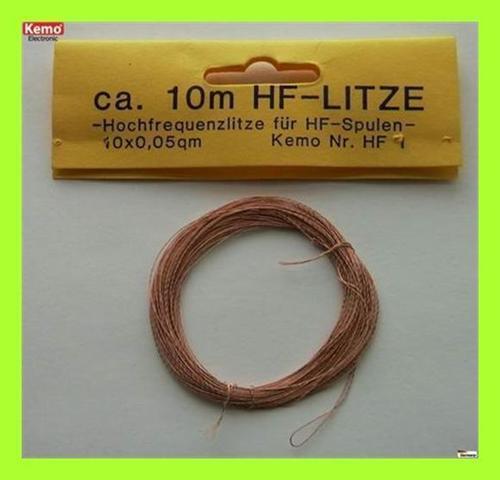 10m 10 x 0,05 mm² 1 Stück KEMO HF001 Hochfrequenzlitze ca HF001
