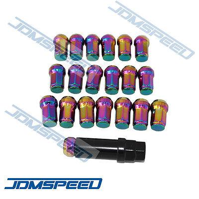 OCPTY Lug Nuts 20PCS 12x1.5 Red Chrome Heptagon Steel JDM Tuner Racing Lug Nuts with 1 Key fits Acura Honda Toyota 1988-2013