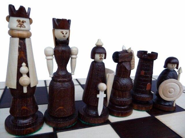 Ajedrez gran noble magnate ajedrez juego 55 x 55 madera tallada
