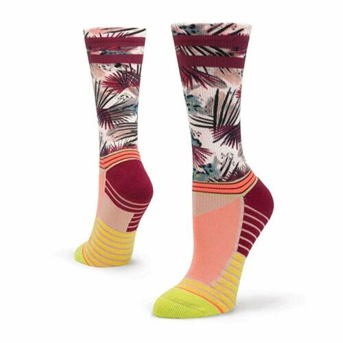 Lime Stance Women/'s Record Crew Run Socks 3 Pack Medium