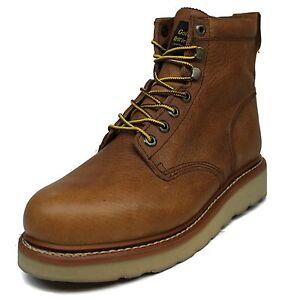 ece13db24d8 Details about Men's Golden Retriever® 6-Inch Brown Wedge Steel-Toe 2E & D  Work Boots Size