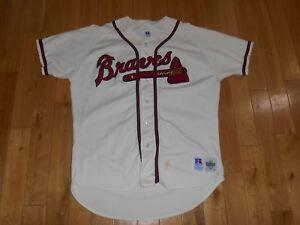new style 36fb7 2e091 Details about Vintage Russell Athletic ATLANTA BRAVES Authentic Collection  MLB Team JERSEY 48