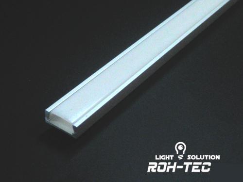 1m ALU-Profil aus 5 Eloxierte LED Leisten zur Auswahl opale//milchige Abdeckung