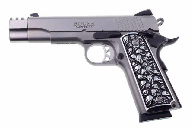 1911 Fits Colt Remington Springfield S&w 3d Skulls Solid Aluminum ...