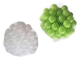 100-10000 Piscine De Balles 55mm Mélange Vert Clair Transparent Assortiment