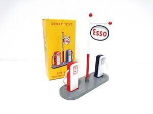 Pompe-a-essence-ESSO-DINKY-TOYS-VOITURE-MINIATURE-GAS-STATION-49D