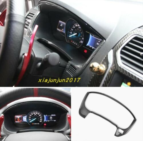 Carbon fiber Car Interior front dashboard cover trim For Ford Explorer 2016-2019