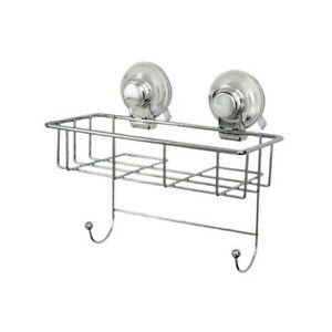 Sponge-Basket-Suction-Wall-Mounted-Chrome-Effect-Caddy-Storage-Cleaning-Vertex