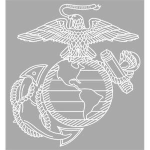 MVC brand Marines EGA Eagle Globe Anchor HTV Heat Transfer or Adhesive Vinyl Printed Vinyl Pattern  12 x 12 sheet for shirts or decals