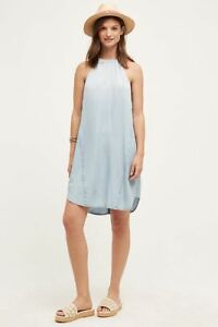 1dcb59417a25 ANTHROPOLOGIE Cloth & Stone High Tide Dress in Chambray Size XL / 14 ...