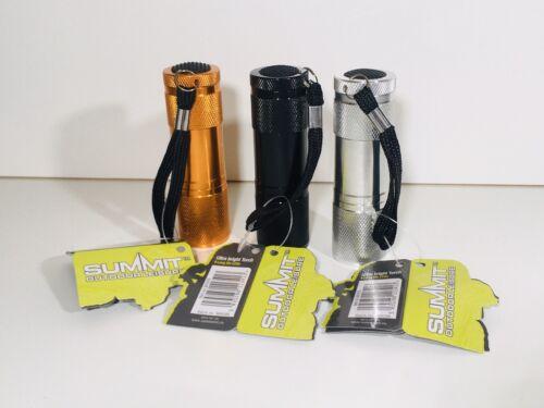 Festival 3x Ultra Bright Mini LED Camping Flashlight Torch Keyring Portable
