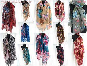 lot of 6 vintage animal print flower scarf shawl sarong fashion clothing