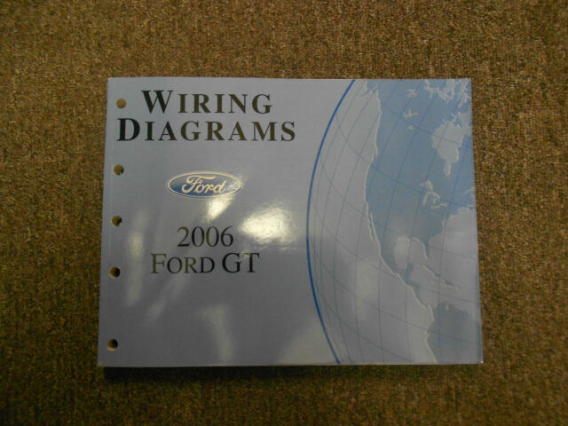 2006 Ford Gt Electrical Wiring Diagram Service Shop Manual