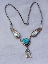 Indianerschmuck Navajo  Kette Necklace Türkis Silber Mary Chavez Halskette  294
