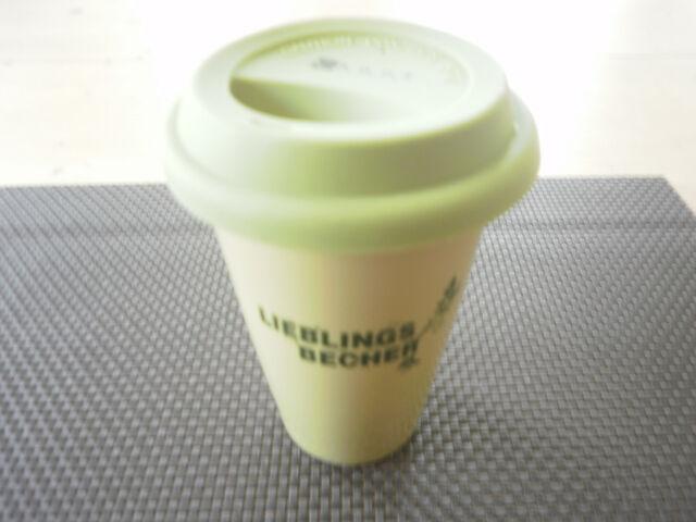 Porzellanbecher  Kaffeebecher Coffee to go Porzellan Tempra Rohe Neu OVP