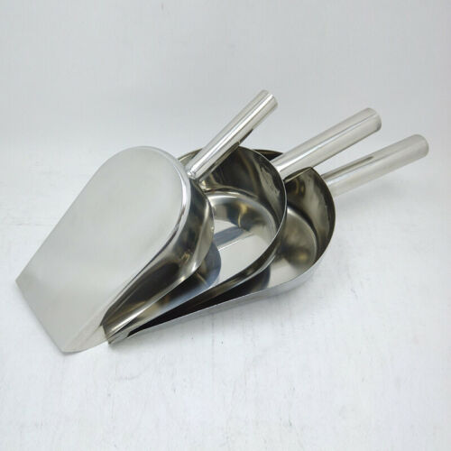 Stainless Steel Ice Cube Scoop Party Bar Buffet Kitchen Sugar Flour Goods Shovel