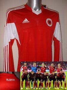 c7f9ad68e Albania Adidas M   L L S BNWT New Shirt Jersey Football Soccer ...