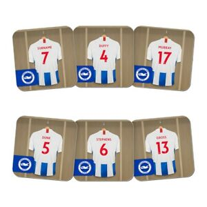 Glorieux Brighton & Hove Albion F.c - Personalised Coasters (dressing Room - 6 Pack) éLéGant En Odeur