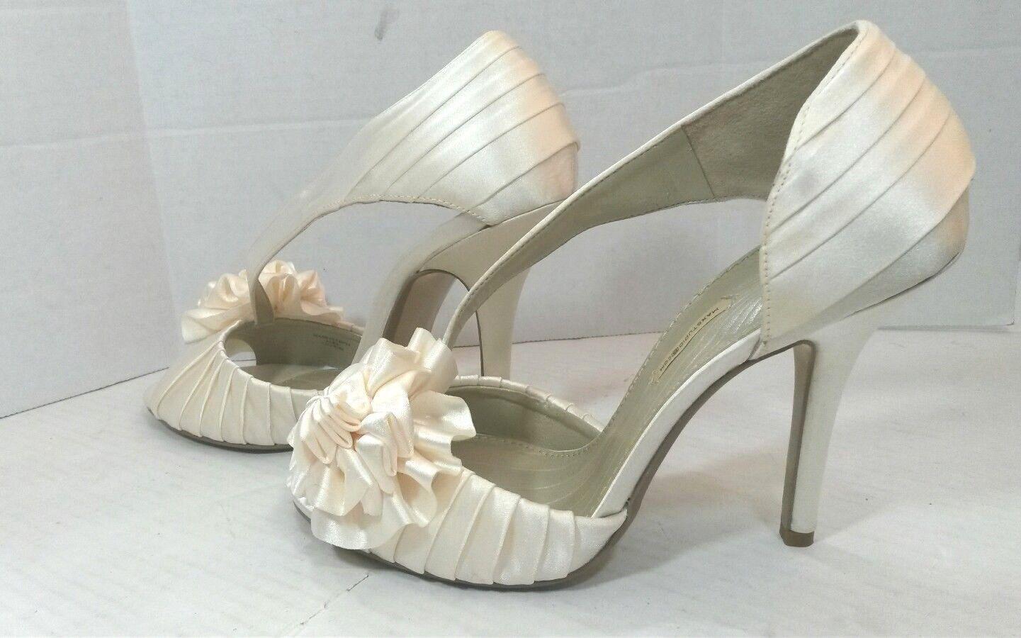 b471c74950 ... Max Studio Elba Elba Elba Slip On Peep Toe Pumps Dress Shoes Womens 7M  Pearl Ivory ...