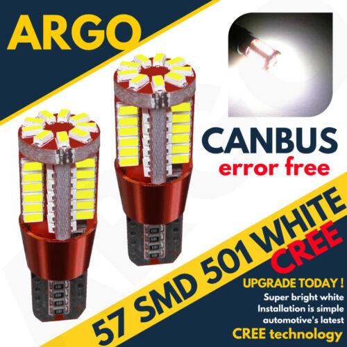 2 X Corsa C 00-06 Sxi Sri Bright Canbus Led Side Light 501 W5w White Bulbs Cree