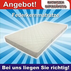18 cm hohe federkern matratze bochum standard 140x200cm gut und g nstig ebay. Black Bedroom Furniture Sets. Home Design Ideas