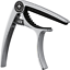 Guitar Capo Classy Matte Silver for 6 /& 12 String Instruments Acoustic Clamp