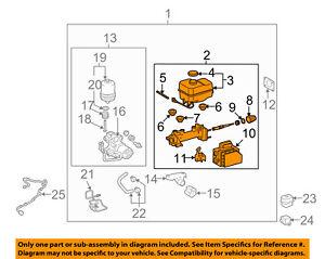 s l300 toyota oem 05 07 4runner brake master cylinder 4702535070 ebay