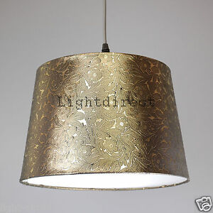 Dark gold foile effect 10 empire drum lamp shade for table lamp image is loading dark gold foile effect 10 034 empire drum aloadofball Image collections